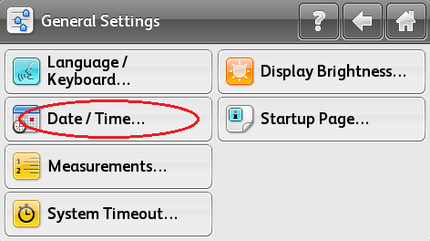 Select Date/Time