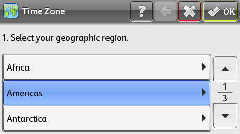 Select geographic region