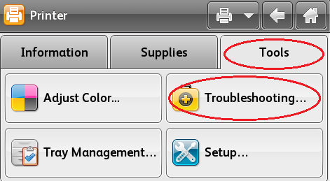 Select Tools, Troubleshooting