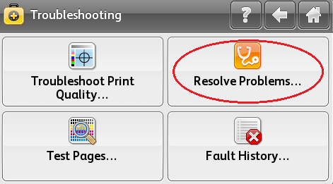 Select Resolve Problems
