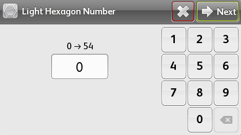 Select Light Hexagon Number