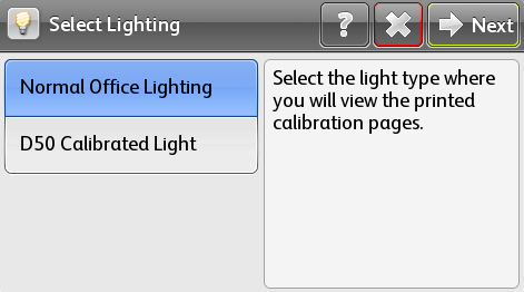 Select  a Lighting setting