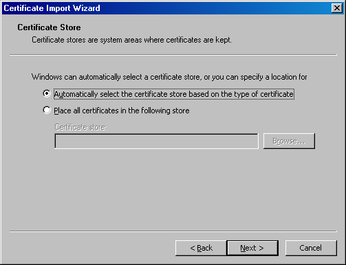 CWIS Auto Install Select and Store