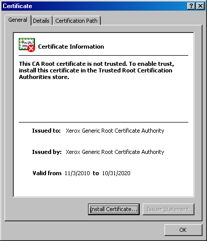 CWIS Certificate Install