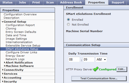 CWIS Proxy Server Configured