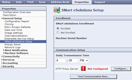 CWIS SMart eSolutions Setup