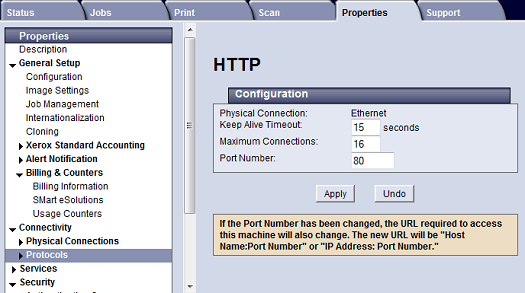 HTTP Configuration