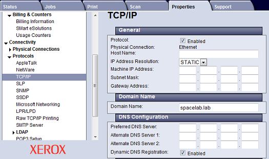 TCP IP Settings