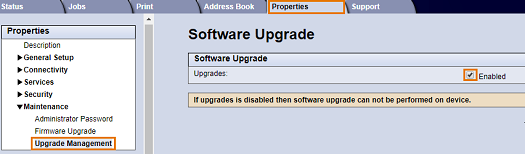 Next to Upgrades, select the Enabled check box