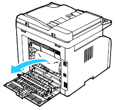 Remove any jammed paper