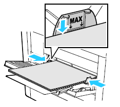 Do not load paper above the maximum fill line