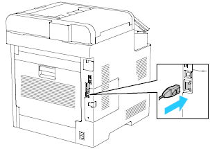 Connect the printer using an Ethernet or USB cable