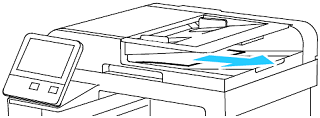 Remove paper from Document Feeder Tray or Document Output Tray