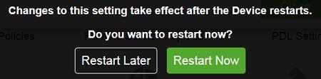 Click on Restart Now