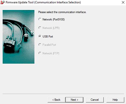 Select USB Port