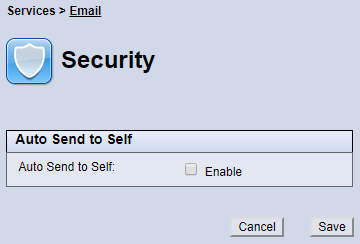 Email Security screen