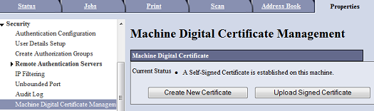 Create New Certificate
