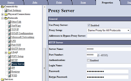 Proxy Server Authentication