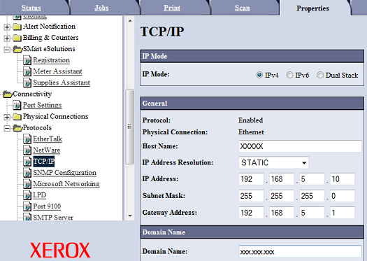 Static TCP/IP