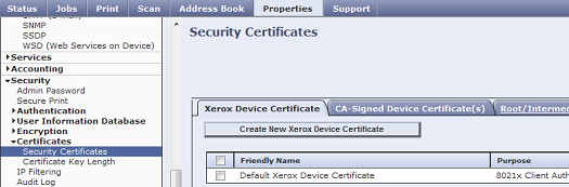 CWIS Security Certificates