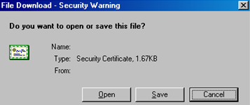 CWIS Certificate File Download