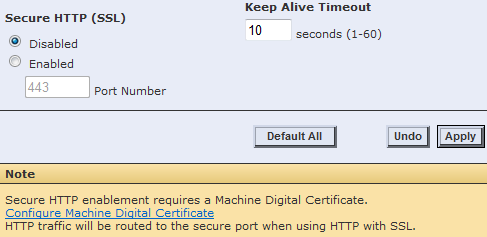 CWIS Configure Machine Digital Certificate