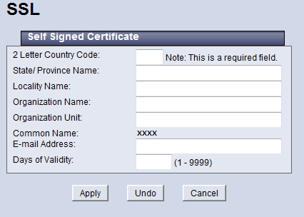 Self Signed Certificate
