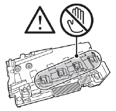 Do not touch the openings of the waste cartridge