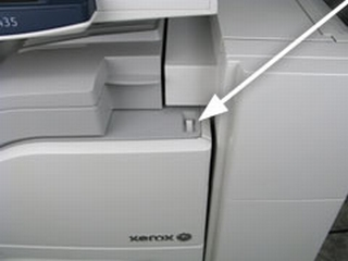 Power off the printer using the switch